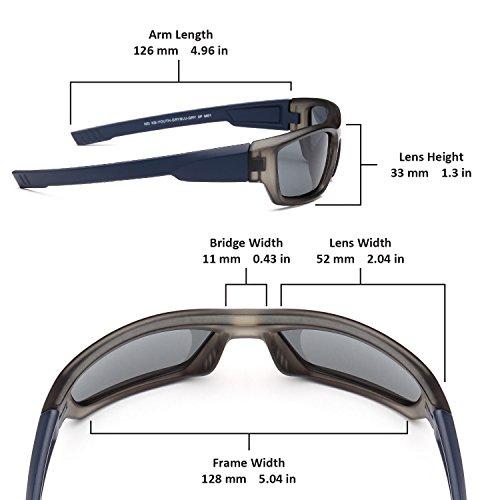 a31f00f2de Naga Sports Youth Teenager UV400 Polarized Sunglasses for - Import It All