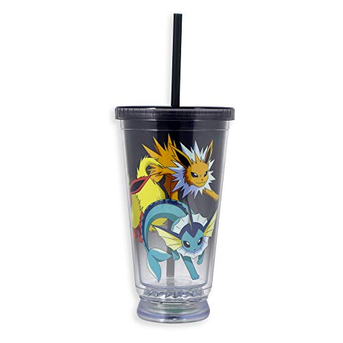 Pokemon Tumbler Travel Cup/Mug with Red, Yellow and