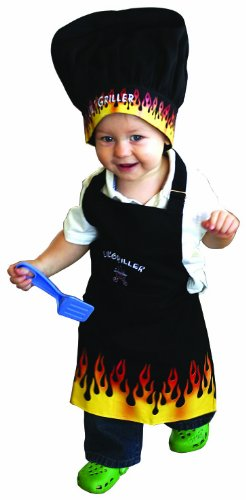 [Manual Woodworkers Child's Kitchen Apron, Hat, Oven Mitt Set Lil' Griller] (Play On Words Costume Ideas Of Halloween)