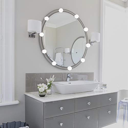 Hollywood Lights Bathroom: Vanity Mirror Lights Kit,2018 Upgarded LED Lights For