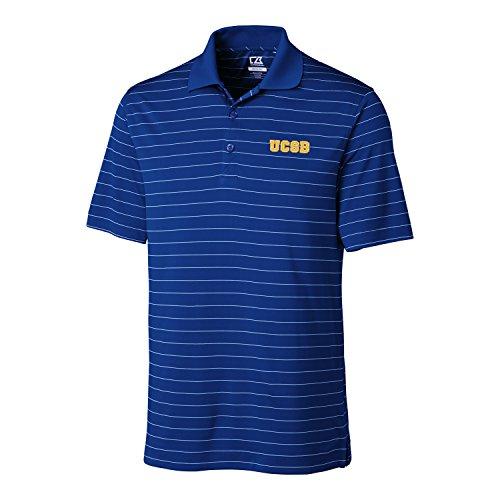 NCAA Men's CB Dry Tec Franklin Stripe Polo Cal Santa Barbara Gauchos Tour Blue - Barbara Santa Stores