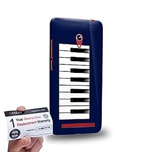 """Case88 [Asus Zenfone 6 6.0"""" A600CG] 3D impresa Carcasa/Funda dura para & Tarjeta de garantía - Art Drawing Aqua Piano"""