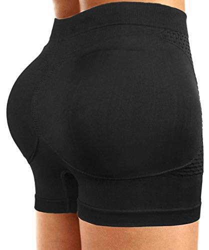 CeesyJuly Womens Padding Butt Lifter Boy Shorts Shapewear Butt Enhancer Panties ()