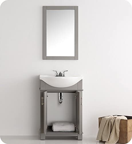 Fresca FVN2302GR-CMB Hartford 24″ Gray Traditional Bathroom Vanity