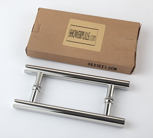 Rembrandt - Ladder 36'' Modern & Contemporary Double Shower Pull Stainless Steel for Entrance/Entry/Shower/Glass/Shop/Store, Interior/Exterior Barn & Gates - Chrome Mirror Polished by Rembrandt (Image #3)