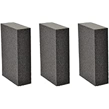 3 PCS Sanding Sponge Block, Great for Hand Sanding and Finishing, Use of Drywall, Metal, Wood, Painted surface and Fiberglass