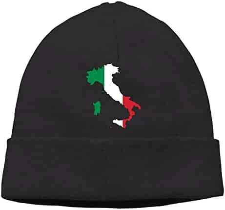 28e5bd384 Italia Italy Italian Map Mens Womens Breathable Skull Caps Hat Cotton  Slouchy Skull Caps