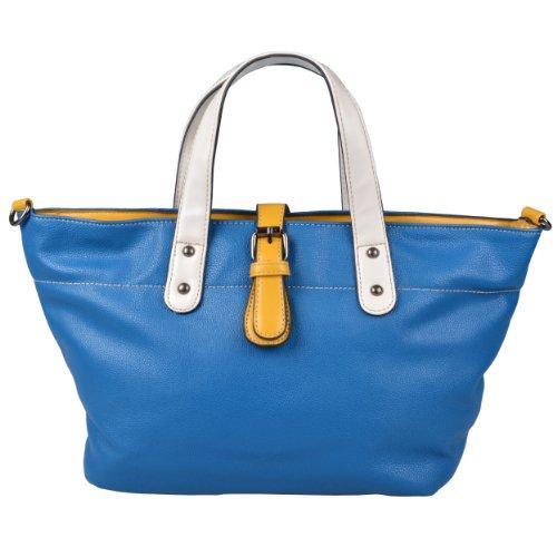 Brinley Co Womens Faux Leather Double Handled Handbag