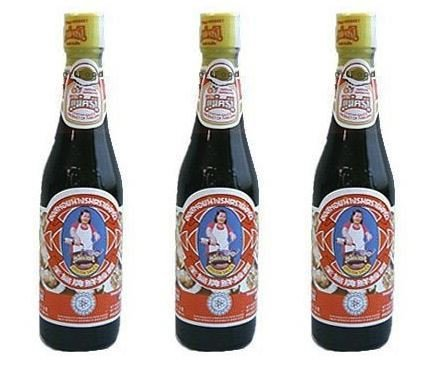 Maekrua Thai Oyster Sauce 11 oz bottle (Pack of 3)