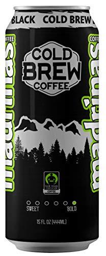 Madrinas Coffee Fair Trade Organic Cold Brew Black, 15 fl oz (Pack of 12)