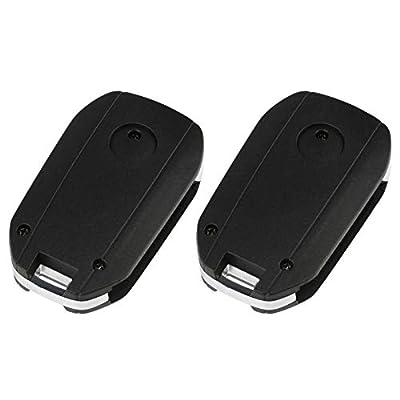 Flip Key Fob fits 2007-2016 Buick Cadillac GMC Chevy Saturn Keyless Entry Remote (15913420), Set of 2: Automotive