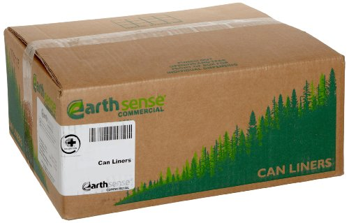 Webster GES6K90 Plastic Earthsense Recycled Tall Kitchen Waste Can Liner, 0.8 Mil, Flat Seal, 29.75