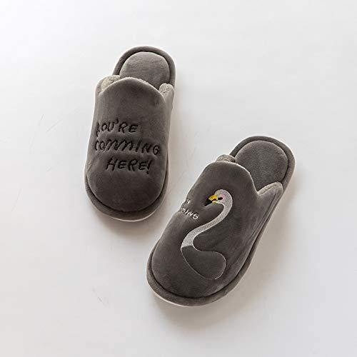 Calde E Uomo Antiscivolo Pantofole yellow Hong Donna Invernali Casa Jia 37 41 36 Grey Da 40 CX1z8wx8q