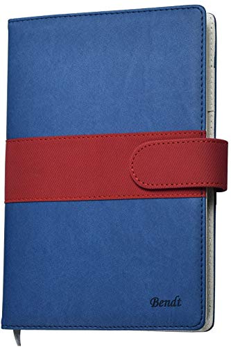 Incl Clasp - Premium Refillable Leather Journal Ruled, Lined Notebook for Men with Pen Loop, A5 (8.7