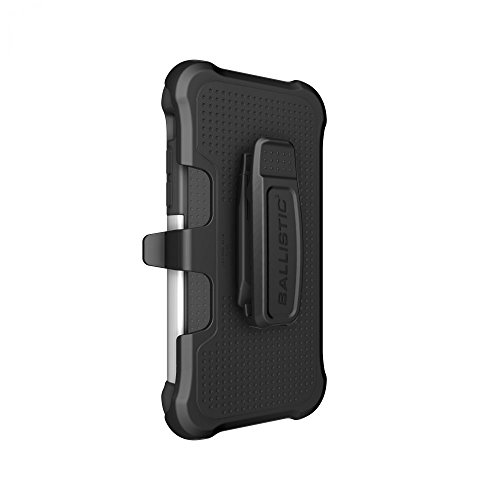 Ballistic TX1429-A06C Tough Jacket Maxx Case with Holster Belt Clip and Screen Protector for the Apple iPhone 6 Plus and iPhone 6s Plus - Black/White