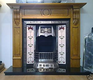 Castec Chester Victorian Cast Iron Fireplace Complete Package With