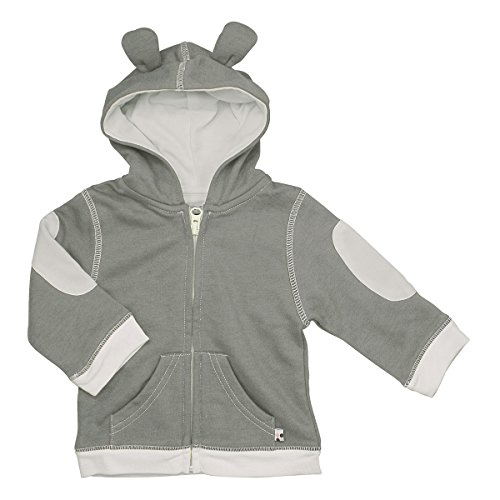 UPC 022099829799, Babysoy Fleece Hoodie (Baby) - Thunder-0-6 Months
