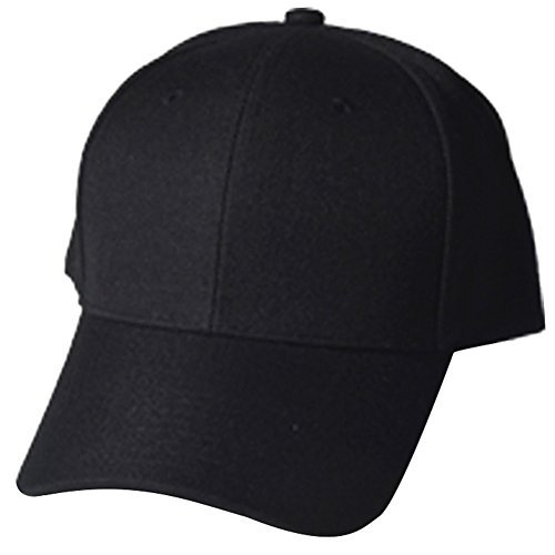 QML ( Junior, Infant ) Baseball Cap and Snapback ( 4 STYLES, Many COLORS ) (INFANT PLAIN, BLACK)