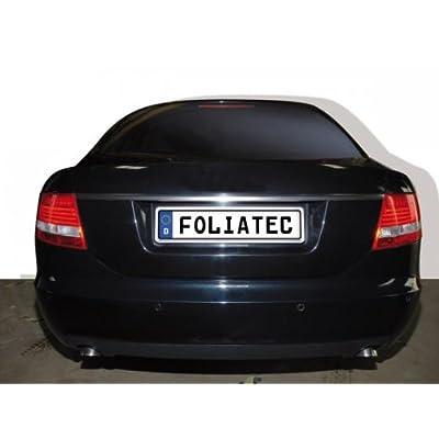 Foliatec FT35402 Swiss Click Numberplate Surround, Brushed Chrome: Automotive