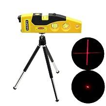 FOME Mini Line Laser Level Marker TD9B 160 Degrees Laser Range with Adjustable Tripod Yellow