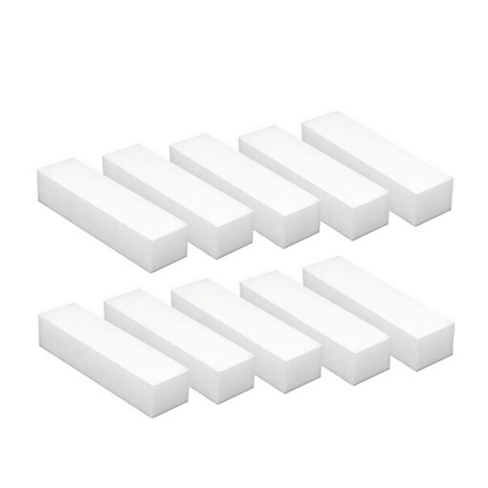 10PCS White Square Sponge Nail File Art Buffer Buffing Sanding Block Grit Manicure Polisher Nail Art Tips Tool Ohomr