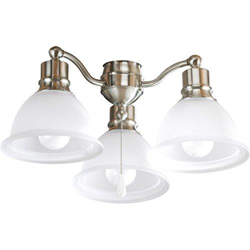Progress Lighting P2623-09 3-Light Fan Light Kit, Brushed Nickel from Progress Lighting