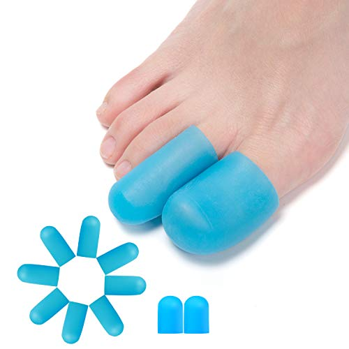 Sumifun Gel Toe Protectors Toe Caps, 10 Pcs Toe Sleeves Cushions to Protect The Toe, Prevent Callus and Blistering, Silicone Toe Protector for Women and Men