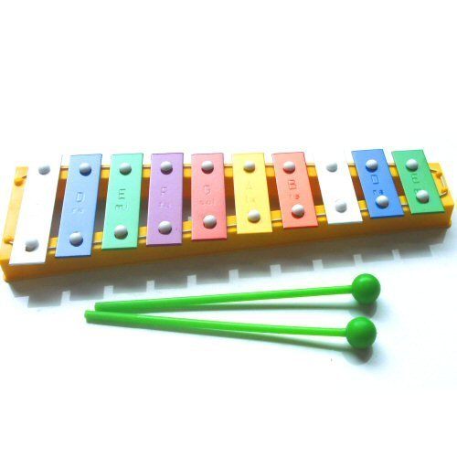 Colourful Children's Toy Glockenspiel Xylophone with Free Beaters