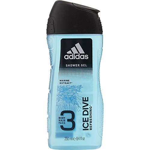 (ADIDAS ICE DIVE by Adidas HAIR & BODY WASH 8.4 OZ (DEVELOPED WITH ATHLETES) for MEN ---(Package Of 4) )