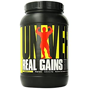 Real Gains Weight Gainer with Complex Carbs and Whey-Micellar Casein Protein Matrix, Banana Ice Cream, 6.85 Pound