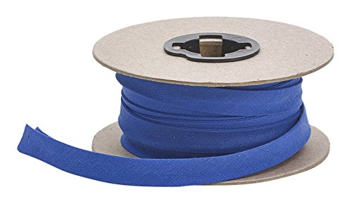 Pearl 7/8'' Double Fold Quilt Binding, P/C, 25 yd, Cobalt by Pearl