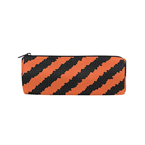 Thomas Eugene Halloween Background Printed Pencil Case Stationery Pouch For Students(8 x 3 x 3in) -
