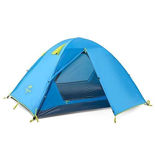 K&E Online Shop 2 Personen Camping Zelt wasserdicht Double Layer Zelt winddicht blau Outdoor Zelt