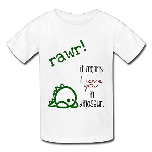 Hoeless Rawr Means I Love YouBaby Short Sleeve T-ShirtSoft Shirt 6 M (Fat Halloween Meme)