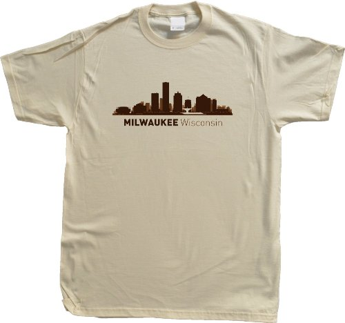 Milwaukee, WI City Skyline Unisex T-shirt Wisconsin Hometown Pride Tee