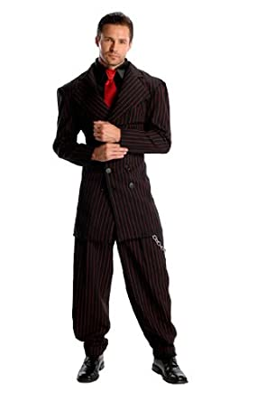 Gangster Costumes & Outfits | Women's and Men's Rubies Costume Deluxe Zoot Suit Costume $65.47 AT vintagedancer.com