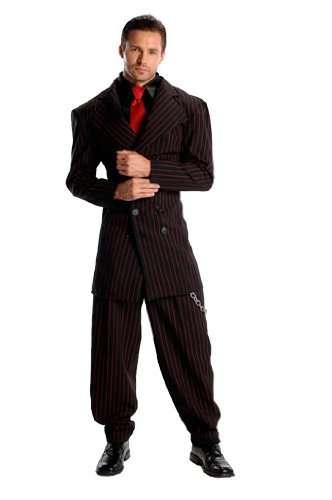 Rubie's Costume Deluxe Zoot Suit, Black, Small (Deluxe Zoot Suit)