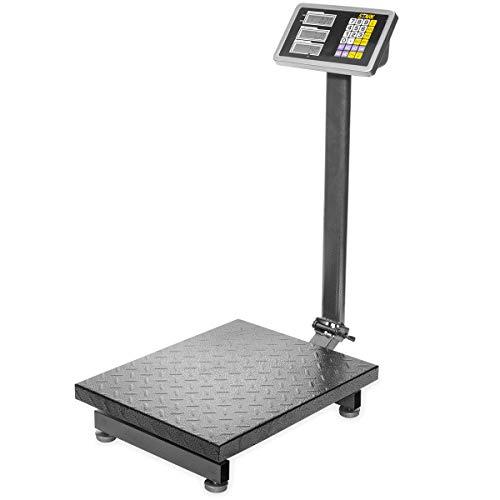 XtremepowerUS 600LB Weight Computing Postal Scale Digital Floor Large Platform Warehouse Shipping LB Price Calculator Foldable ()