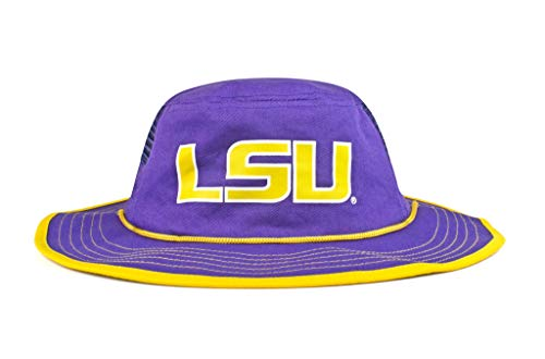 - Cowbucker Collegiate Boonie Hat | Officially NCAA Licensed (One Size, LSU Tigers Purple and Gold)