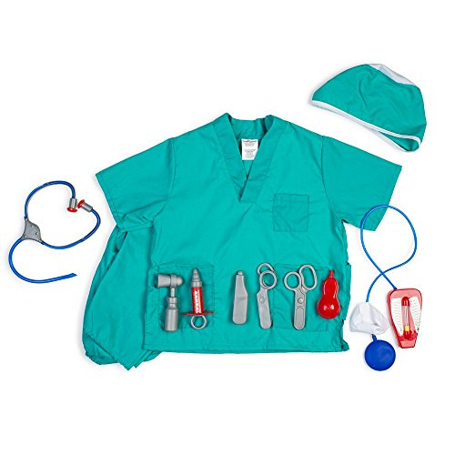 Dress Up America Kids Surgeon Role Play Dress Up Set 3-7 Years