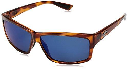 Costa del Mar Cut Polarized Iridium Square Sunglasses, Honey Tortoise, 60.6 - Del Costa Mar Cut