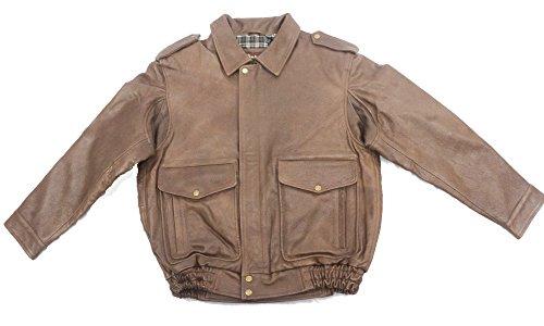 Cowhide Leather Flight Jacket - 2