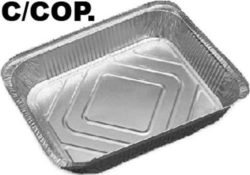 Set 50 pz 8 porzioni 32x26x5 cm Alupack Vaschetta Alluminio