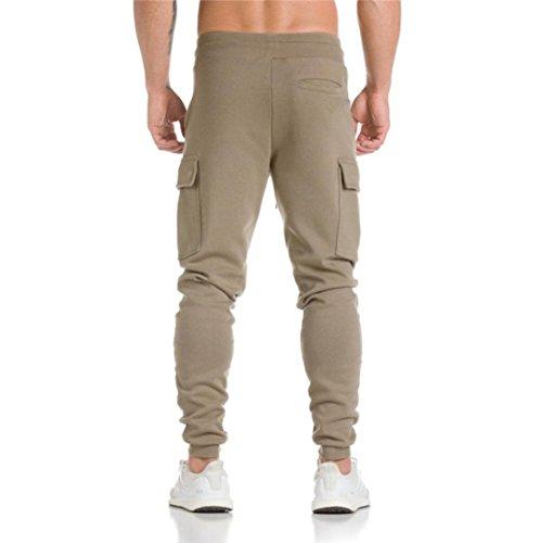 Décontracté Sport Jogging Homme Pantalon Baggy Sportwear Survêtement Pantalons Décontractés Sweatpants Casual Pour Aimee7 Kaki De wznxPCEqIg