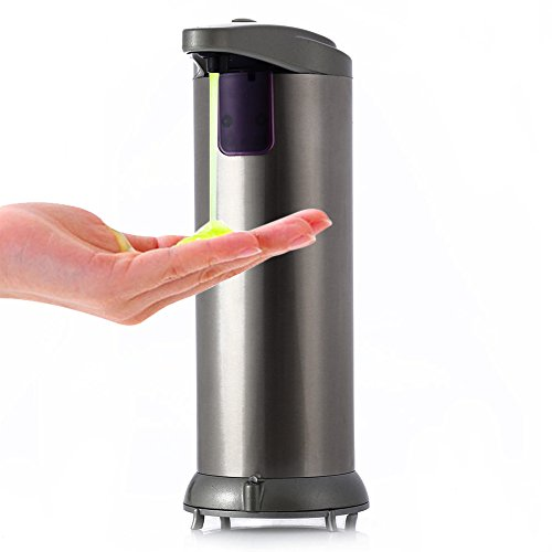 02c One Light (Sensor Soap Sanitizer Dispenser Touch-free for Kitchen Bathroom (AD - 02C 280ml Automatic Stainless)