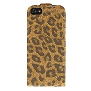 Fashionable Leopard Print Pattern Flip-opened PU Full Body Case for iPhone 5/5S Mobile cases ,Color: Black