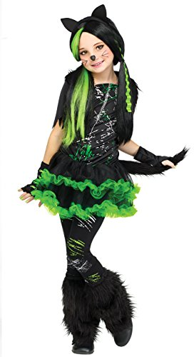 Fun World 217051 Kool Kat Child Costume Medium - 8-10 Black -