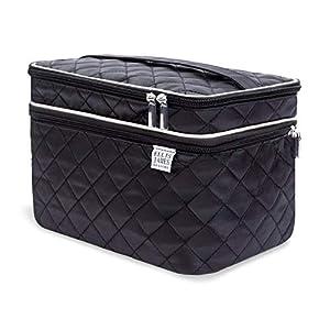 Ellis James Designs Large Travel Makeup Bag for Women – Black Make Up Bag for Women – Travel Cosmetic Bag – Makeup Case…
