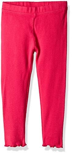 - Gymboree Girls' Big Lettuce Edge Ribbed Leggings, Bright Pink 2T
