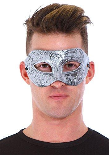 Simplicity Masquerade Greek Roman Facial Mask for Fancy Dress Masked Ball,Silver (Mexican Halloween Face Paint)